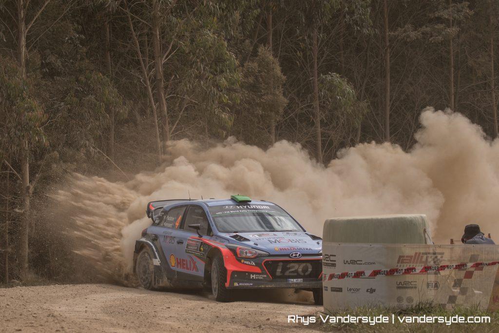 Hayden Paddon at Rally Australia in 2016